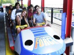 Miley Cyrus riding Millennium Force